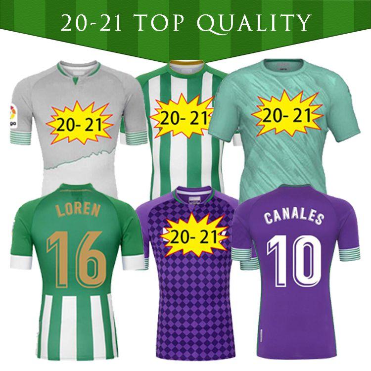 2021 Real Betis Soccer Jersey Bartra B.Ignessias 17 Joaquin 10 Canales Men + Kid Kit Camiseta de Fútbol Juanmi Fekir Futebol