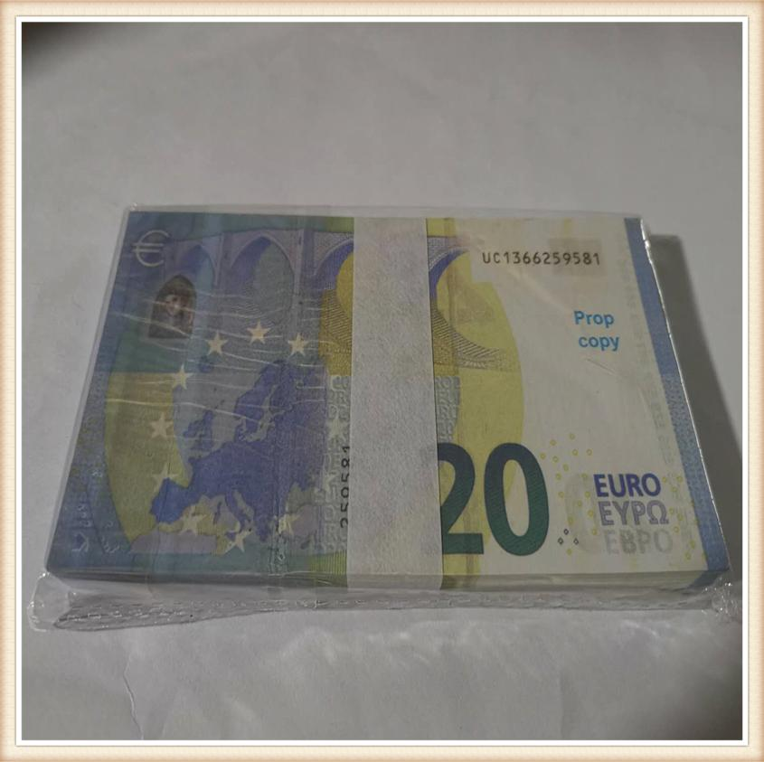 Hot selling 20 Ruros prop banknote currency party fake money children gift toy banknote 100pcs/pack 01