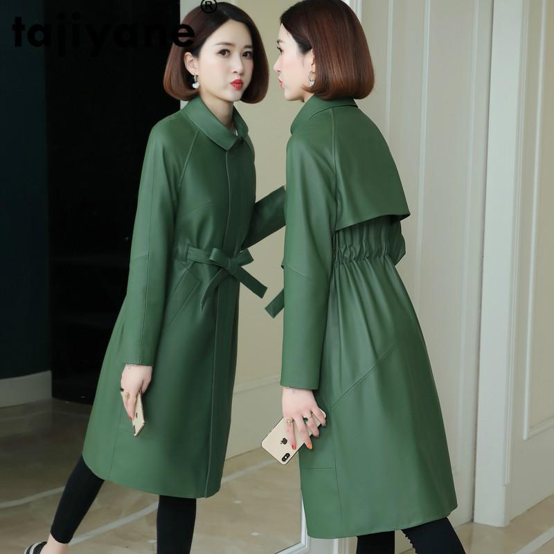 Женская кожаная из искусственного таджияна плюс размер 3XL настоящая натуральная куртка весна осенние овчины пальто корейские женские куртки женские пальто 99182 WPY3