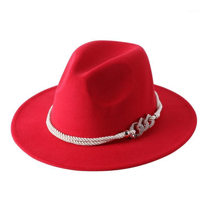 بخيل بريم القبعات ديوادبو الشتاء الخريف المرأة أنيقة السيدات فيدوراس الجاز الأوروبية الأمريكية الحلوى الألوان مطرزة جولة قبعات الرامي feminino