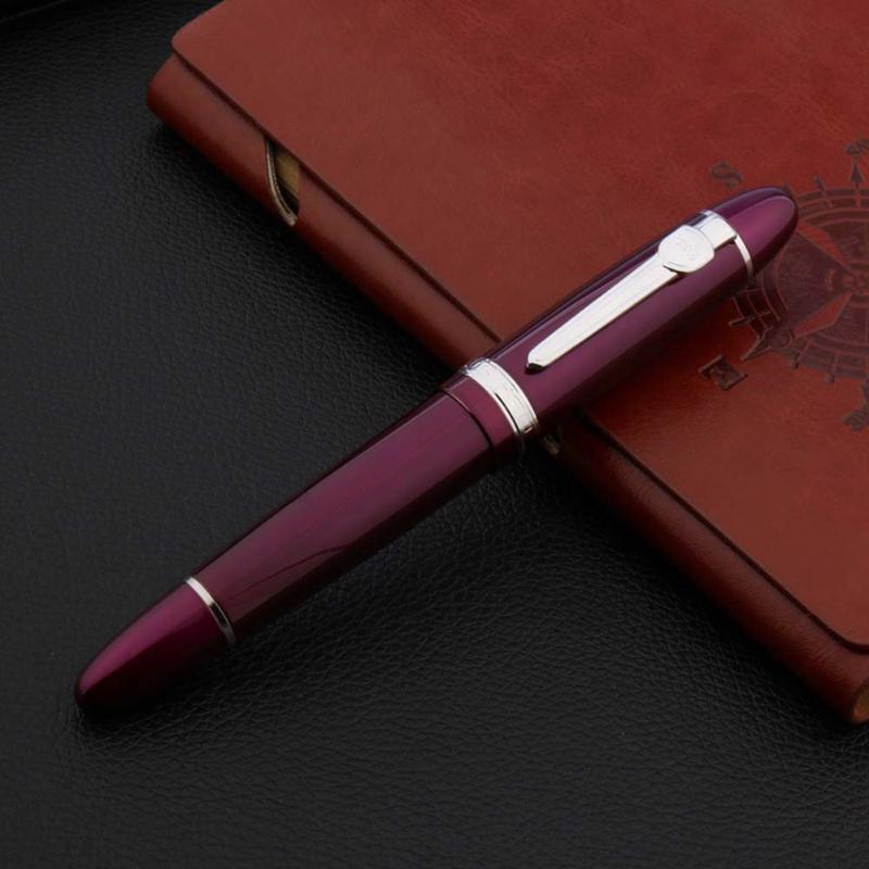 1pc bureau de luxe stylo métal violet vert jaune rouge bleu 0.5mm Noir Vis de recharge écriture stylo à roller