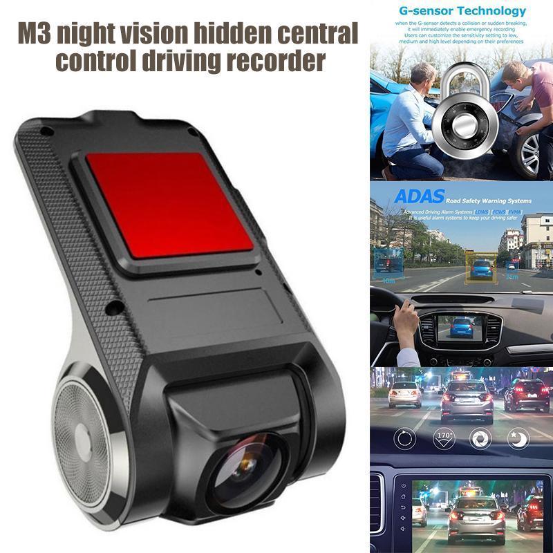 Enregistreur de voiture Enregistreur USB Port DVR Avant Dash Caméra Night Vision Vitesse Mesure AS99