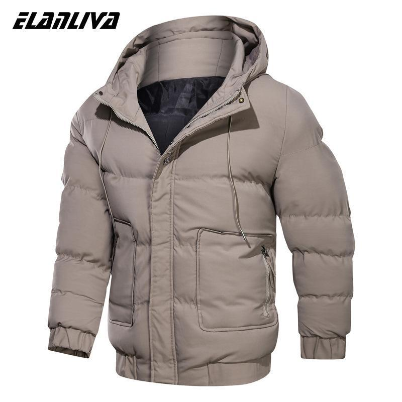 Men's Down & Parkas Winter Jacket Men Brand Casual Thick Warm Mens Parka Coats Hooded Long Overcoats Male Solid Windbreaker Jackets Clothes