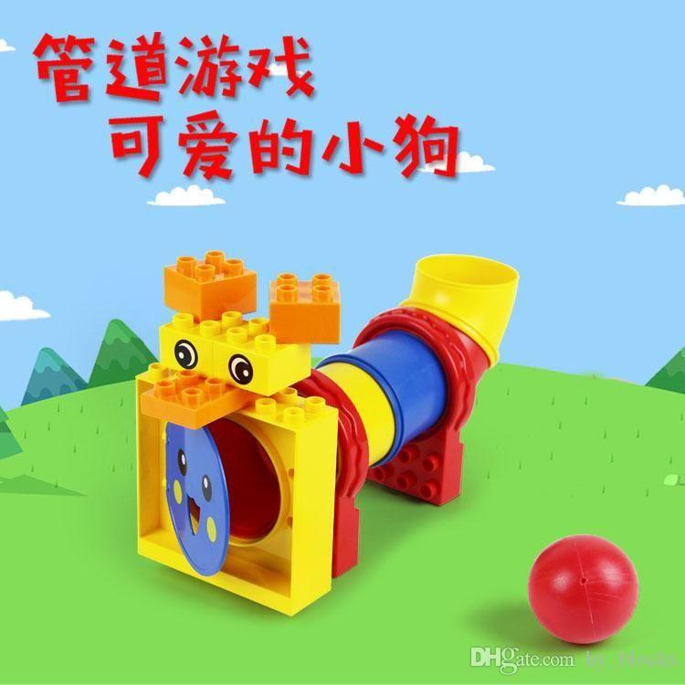 Pipe Puppy Lindo Juguete para Partícula DIY Building Blocks Intelligence Children Creative Big Kids 15pcs Cumpleaños juego Regalo Heeqe