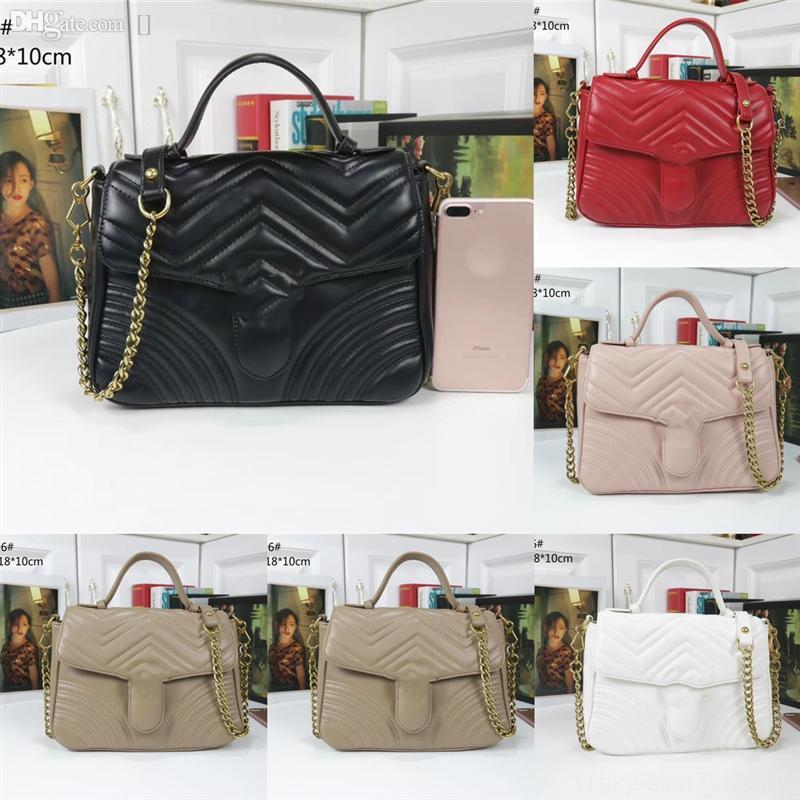 TQFF4 роскошный новый стиль набор дизайнерские сумки на плечо женские цепные кроджом г на плечо женские сумки сумки кожаные реальные кошельки мессенджер