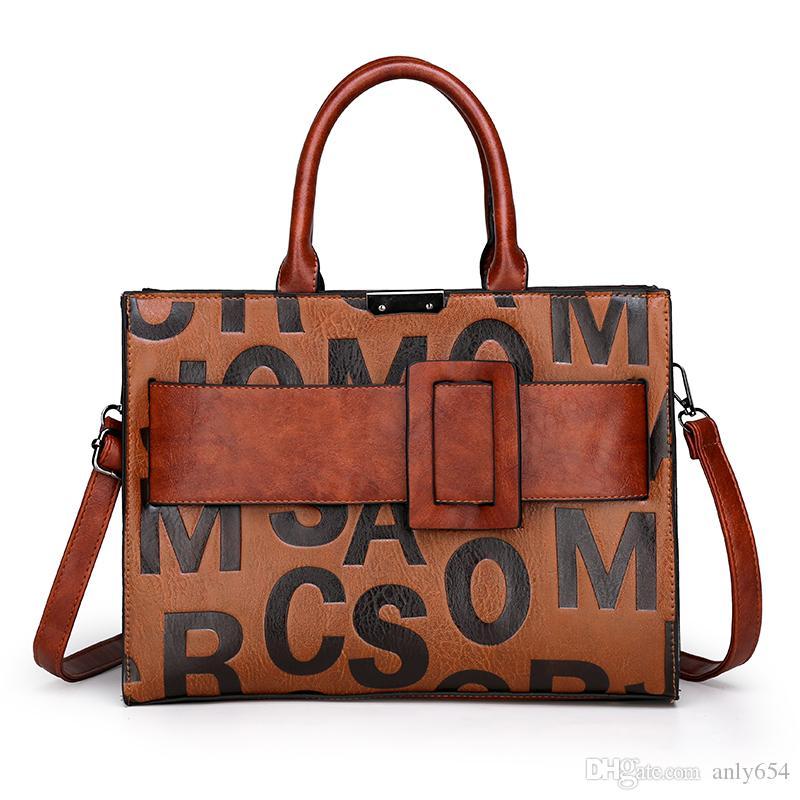 Borse a tracolla delle borse delle borse di cuoio delle donne di grande capacità delle donne di alta qualità Borse a tracolla delle signore di alta qualità Borsa a tracolla femminile casuale