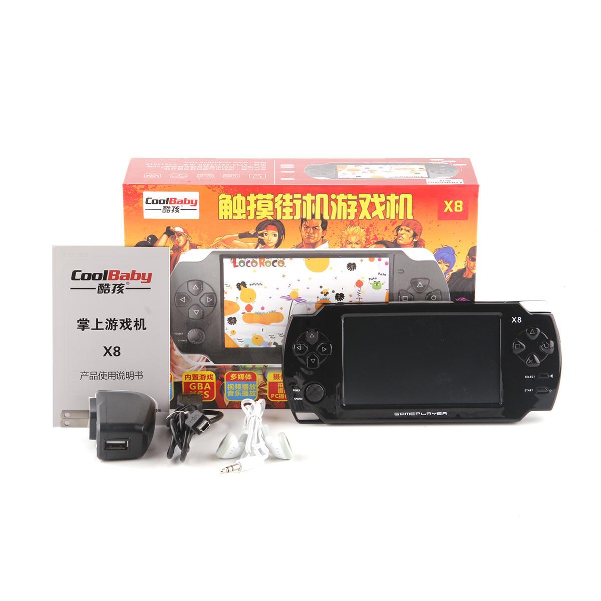 Touch Handheld Game Players 8 GB 4.3 pollici MP4 Player Video Game Console Giochi gratuiti Ebook Camera Console di gioco
