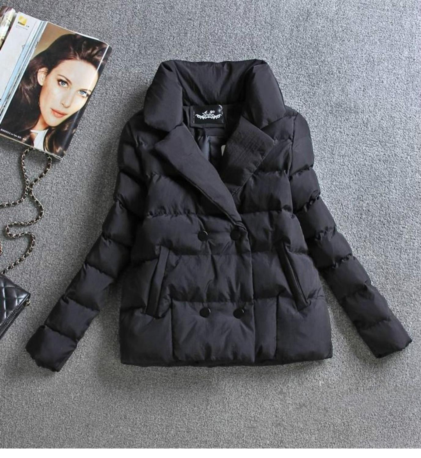 Parka New Women Jacket Warm Cotton Clothing 2020 Short Winter Ladies Sutdent Slim Clothes Coat Black Anvfd