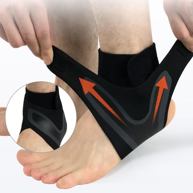 1 adet Ayak Bileği Desteği Çorap Elastik Nefes Sıkıştırma Anti Sprain Sol / Sağ Ayaklar Kol Topuk Kapak Koruyucu Wrap