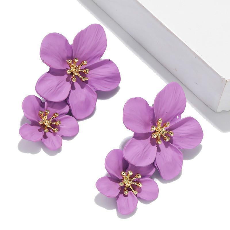 Boucles d'oreilles à fleurs de Femme Kolczyki pour femmes 2020 Pendientes Pendentifes Bijoux de mode Bijoux Bo Stud Dangle Party Brincos Orecchini