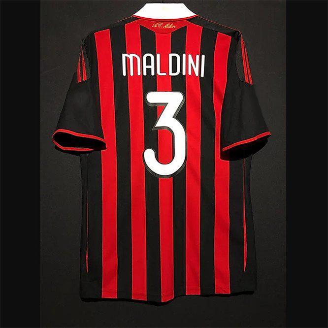 Retro AC Milan Futebol Jerseys Kaka Baggio Ronaldo Nesta Maldini Baresi Pirlo Inzaghi Beckham Rui Costa Shevchenko Camisa Vintage Kit Clássico
