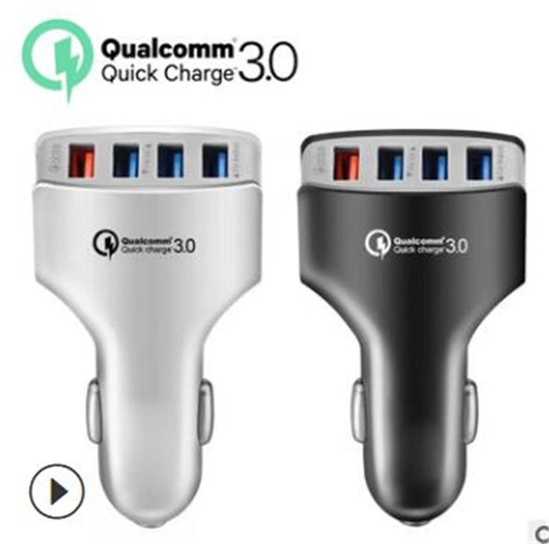 Toptan Orijinal USB Ücretleri Dört Kişilik USB Araç Şarj 4 kez Şarj Cihazı Çin Ücretsiz Nakliye DHL tarafından