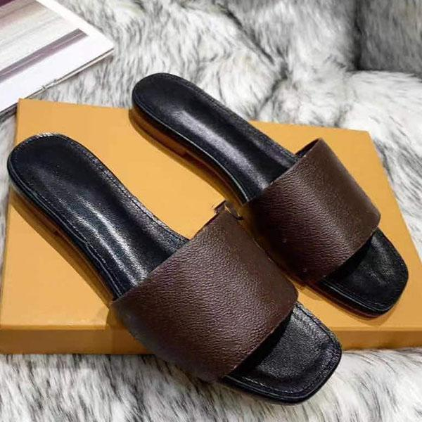 Slipper donna Slipper Slipper Top-Quality Casual Slipper Calfskin Fashion Super Star Sandy Flip flip flops Size 35-44 con scatola