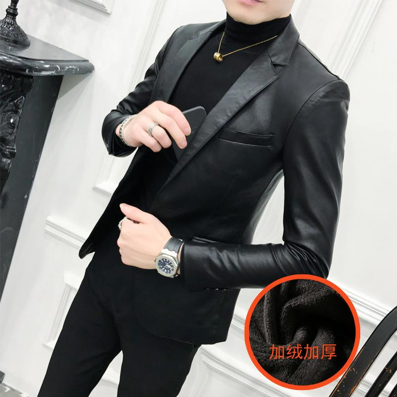Shang 304-1 - B xz161 Ajouter Cuir Cuir Cuir Cultiver Morality Skin Costume Homme 2020 Automne / Veste d'hiver