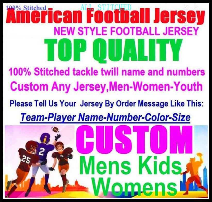 Benutzerdefinierte American Football Trikots für Herren Womens Jugend Kinder Baseball Eishockey Basketball Farbsport Neue Fussball Jersey Sport 4XL 5XL 6XL