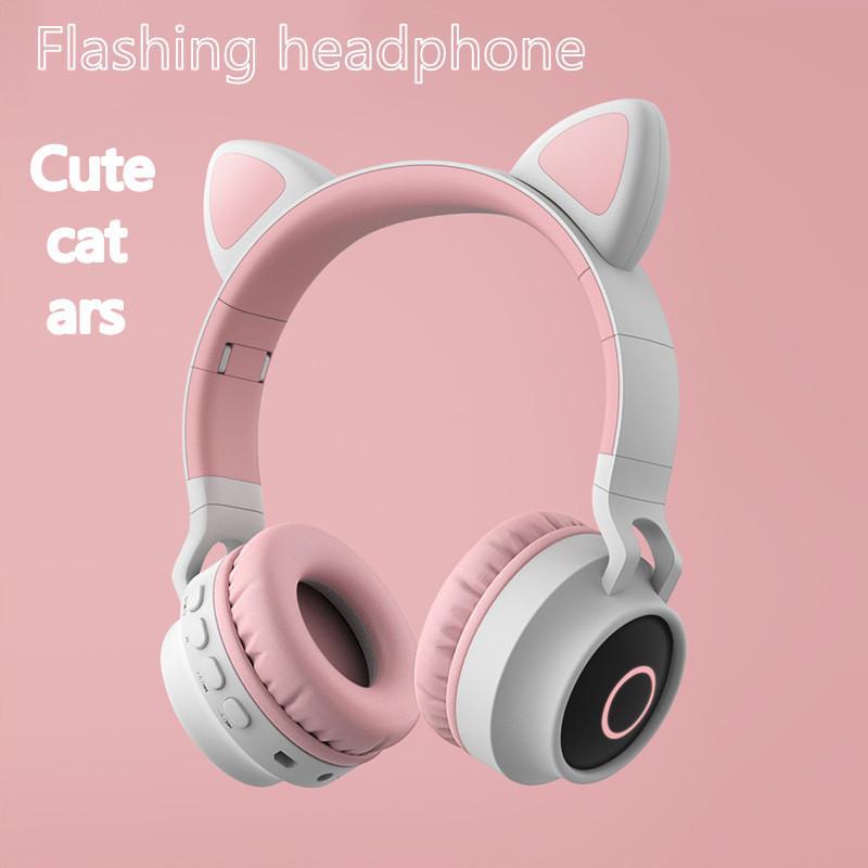 Cat Ears moda i nuovi studenti bello del fumetto Bluetooth Wireless Headset Vendita Gaming Headset fascia Phone Headset Hot