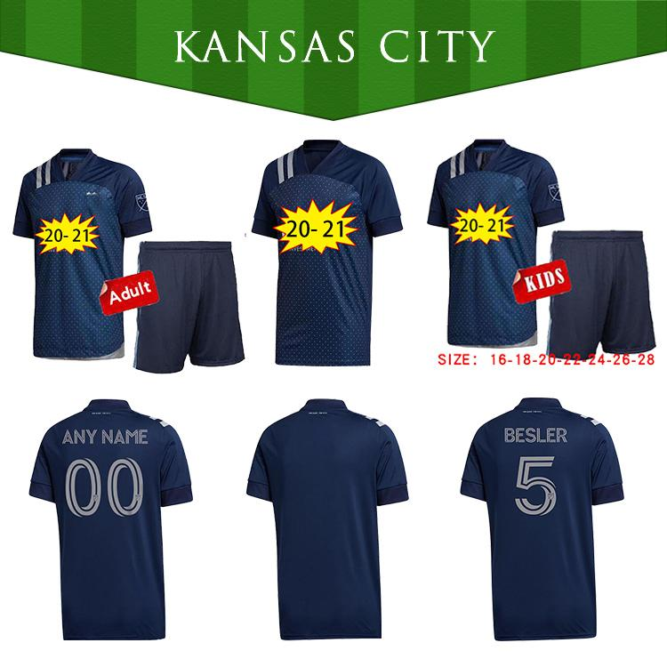 Лучшее качество 2020 2021 Sporting Kansas City Soccer Jersey Zusi Russell Ilie Zusi Salloi 20 21 MLS Джетки футболка S-2XL