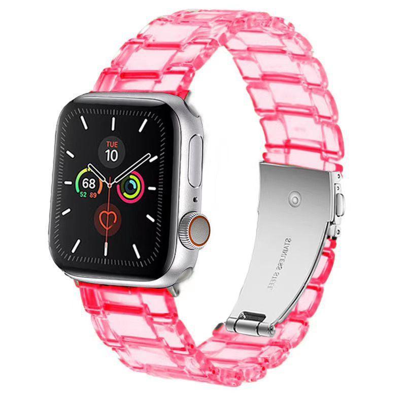 Apple İzle Deluxe Temizle Şeffaf İzle Band Askı Reçine Yedek Bilek Watch Band 38mm 40mm 42mm 42mm 50 adet