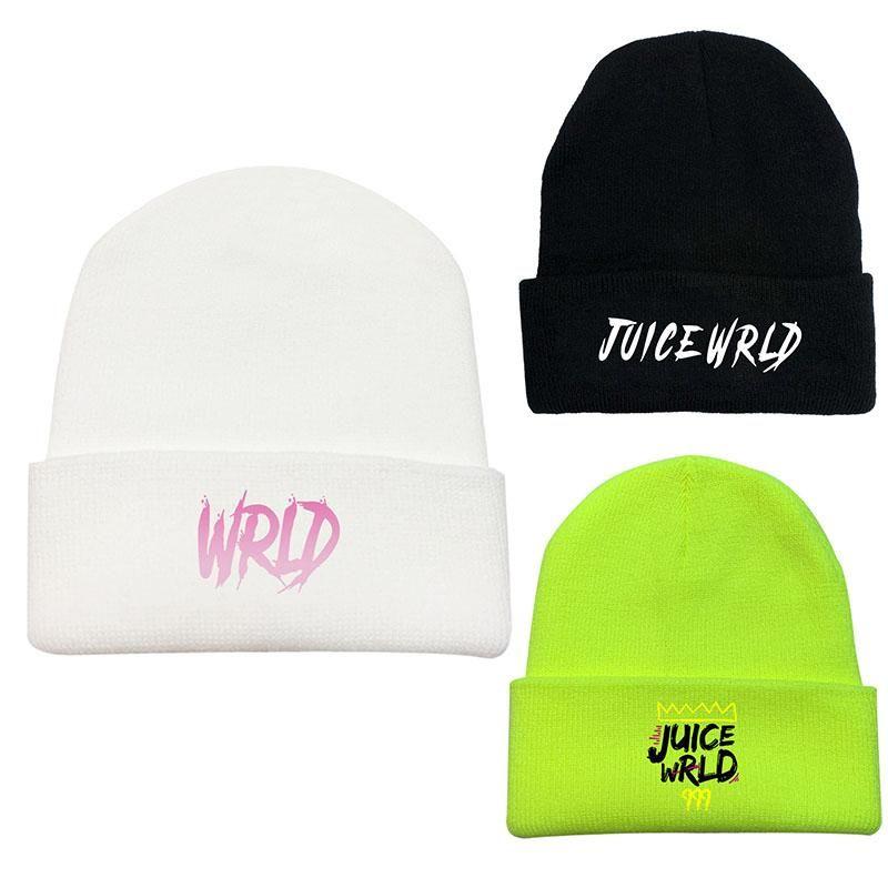 Suco wrld de malha beanie chapéus unisex sólido hip-hop chapéu boné feminino inverno chapéu de malha bonito outono / inverno lã selvagem