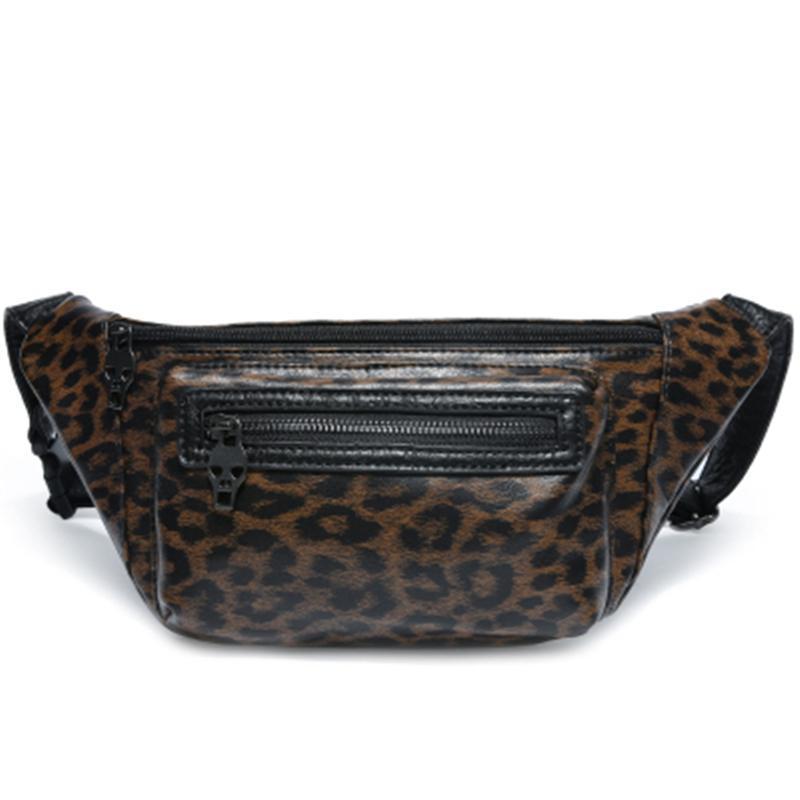 Fashion Pack Women Leopard Leather PU Handbag Print Fanny Strap Bags Shoulder Crossbody Lady Designer Small Bag Waist Chest Pptou