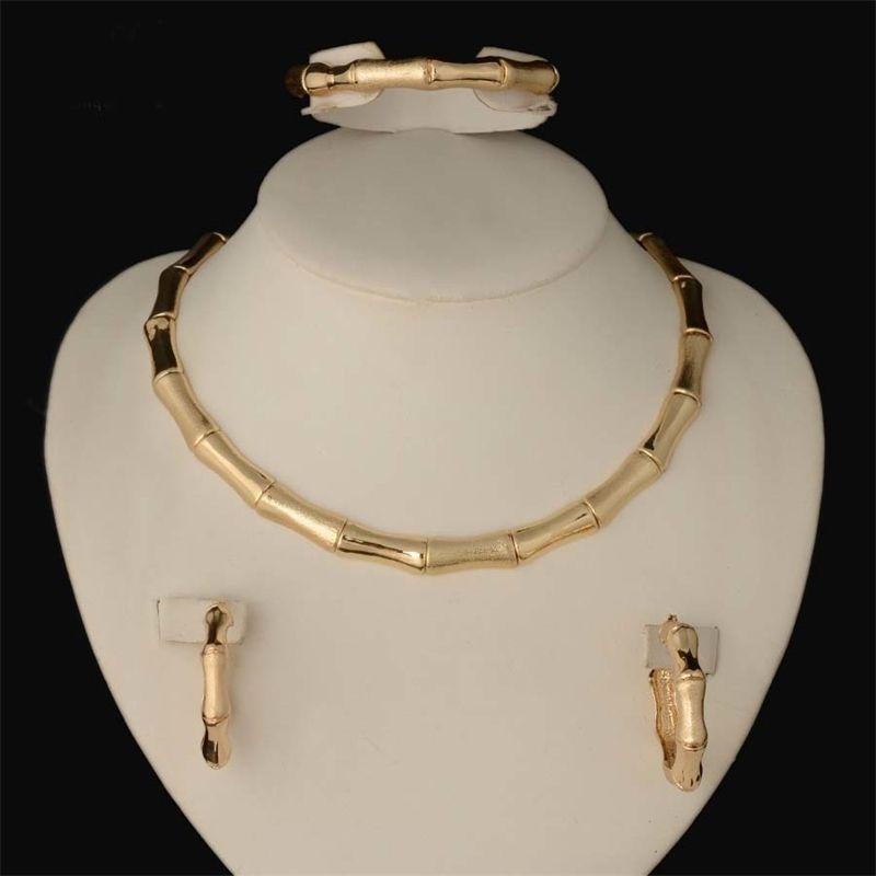 Hot Dubai gefüllt Frauen Party Schmuck Set Frauen Hochzeit Halskette Armband Ohrring Ring Afrikanische Perlen Schmuckset 201222