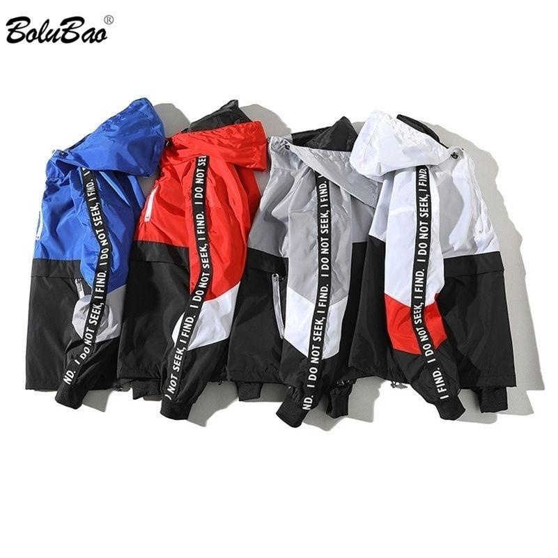 BOOLUBAO мода бренд мужские куртки осень мужской хип-хоп вышитые куртки пальто мужской тонкий подходящий куртка уличная одежда мужчина 201127