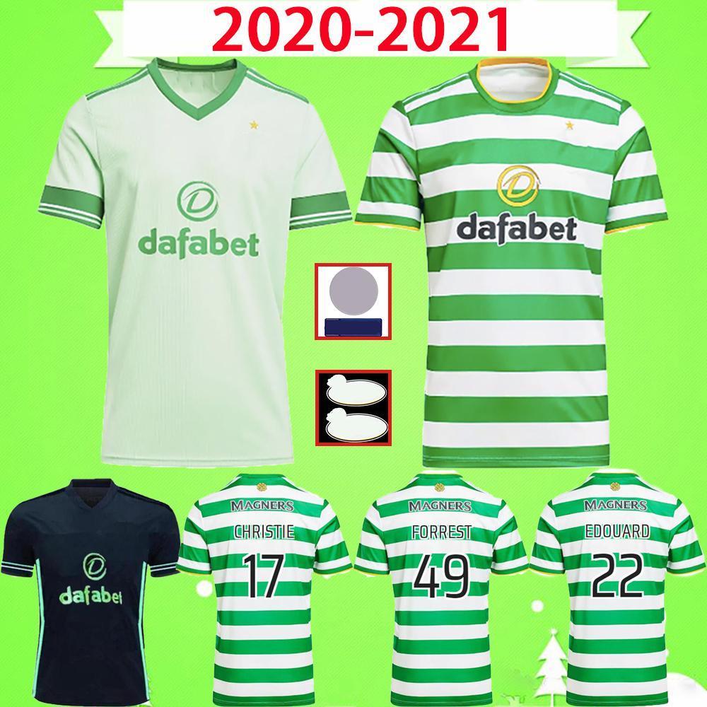 NCAA 20 21 Celtic Futbol Formaları Edouard 2020 2021 Kahverengi Forrest Bayo KLimala Futbol Gömlek Griffiths Taylor Eve Uzakta 3rd McGregor Men Uni