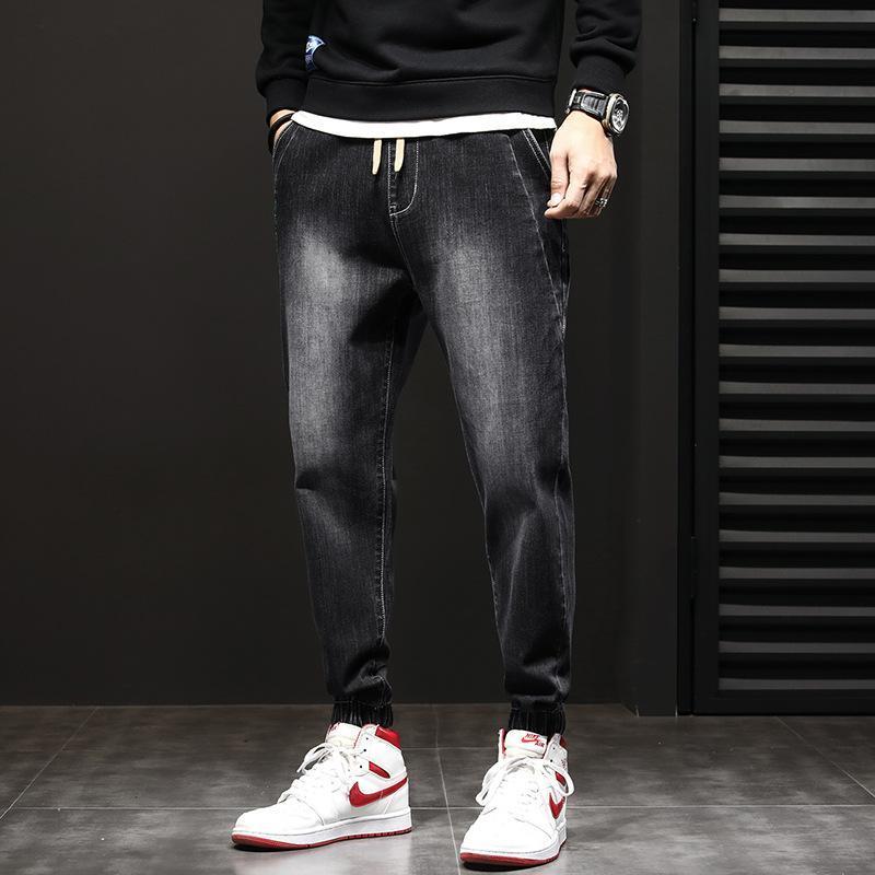 Jeans pour hommes Elastic Pantalon stretch Loose Fit Denim Pantalons de marque Fashion Spring Automne Porter et lavé Jean