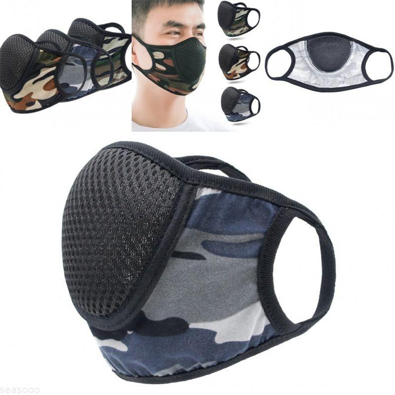 Спорт мода дышащая маска для лица против дыхания РОТ респиратор солнцезащитный крем многоразовая Mascarilla марлевая ткань защищает камуфляж открытый 2 6kk B2