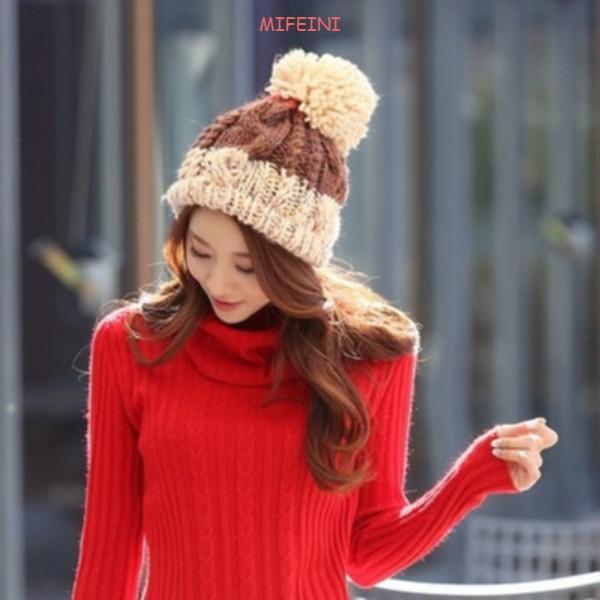 Offre spéciale Liquidation Country Chapeaux Casual Femmes Sweet Femmes Couleur Couleur Couleur Couleur en laine tricotée en gros