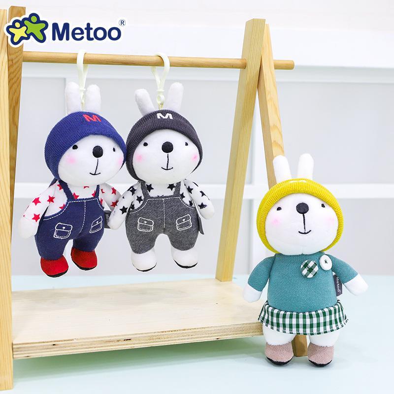 Мини Metoo Doll Мягкие плюшевые игрушки Фученые Животные Для Девочек Симпатичные Красивые Кролик Маленькие Ключники Подвеска Для Детских Мальчиков
