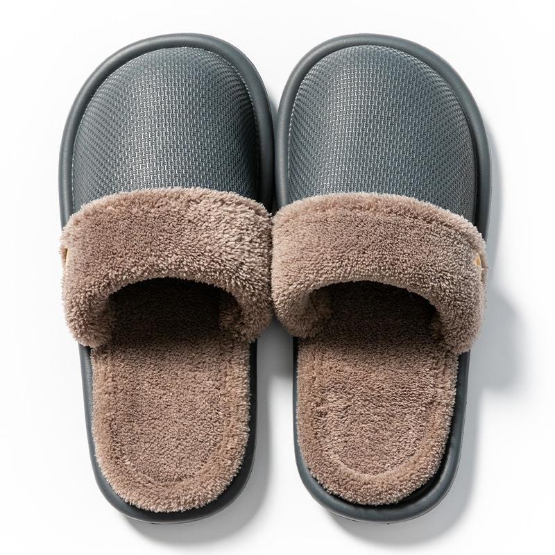 2020 neue Frauen-Indoor Slipper Warm Plüsch Haus Slipper Anti Unisex Schuhe Slip-Haus Fußboden weicher Mann-Winter-Pelz-Hausschuh X1020