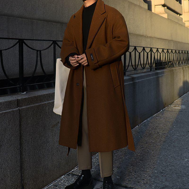 Cálido Casual 2020 Abrigo de invierno Nueva Corea Streetwear largo de lana de los hombres de Privathinker Espesar Moda suelta rompevientos