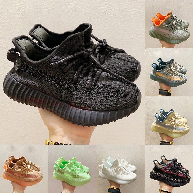 Yezzy Mit Box Kanye West Kids Laufschuhe Black Cinder Zebra Triple White V2 Turnschuhe Jungen Mädchen Kleinkinder Outdoor Sportschuh Kid Sneakers
