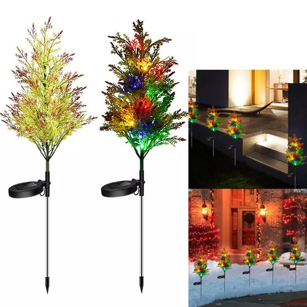 Solar-Cypress-Baum-Licht LED-Lampe flexibles Klebeband Weihnachtsdekorationen Ausverkauf Solar Tree Licht Ferien Garten-Dekorationen