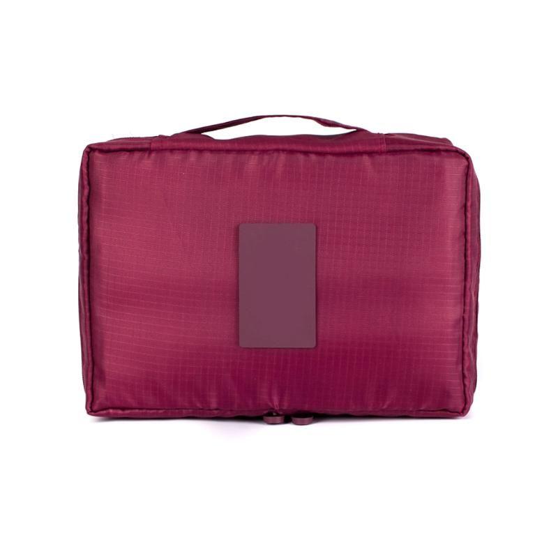 Cremallera nueva bolsa cosmética organizador bolsa hombre mujer belleza arriba hacer lavado de viaje kits de baño caja de almacenamiento maquillaje bolsa de cashm