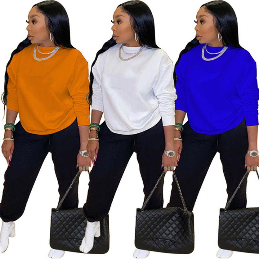 Одежда зимняя одежда женщина бегагинг костюм черный трексуиты с длинным рукавом толстовки + брюки двух частей набор плюс размер 2x наряды густые свита 4291