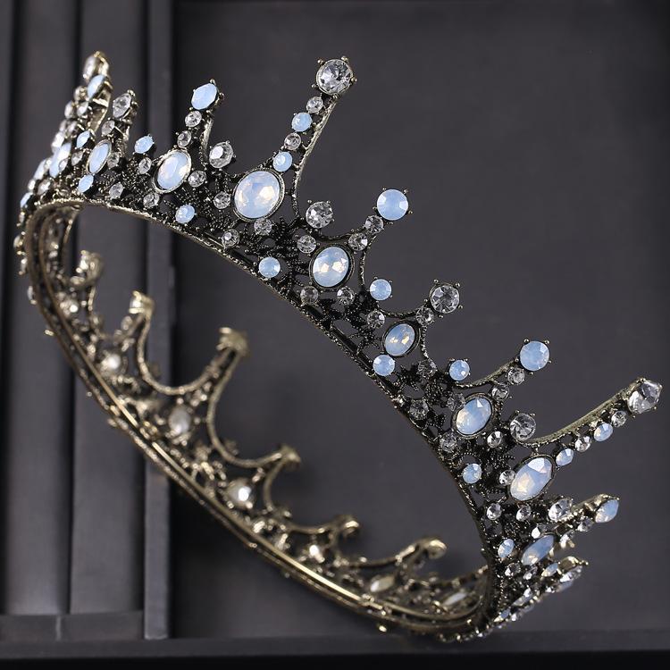 Accessori per capelli Baroque Queen Corona per donna vintage corone e diademi con pietre preziose Girls Costume di Halloween Prom Bridal