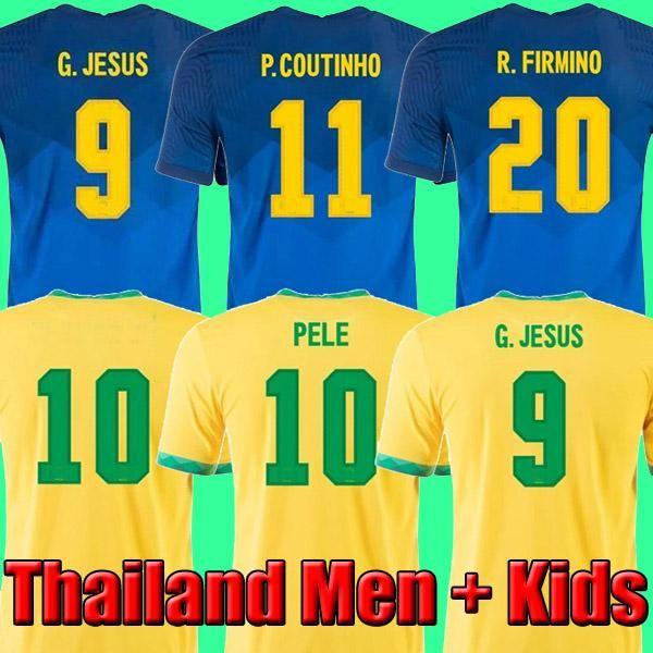 2020 2021 Camiseta de futbol PAQUETA NERES COUTINHO football shirt FIRMINO JESUS soccer jersey MARCELO PELE 2021 maillot de foot