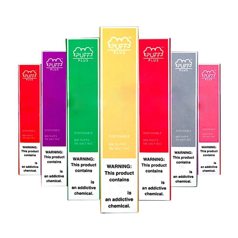 Vorgefüllte BAR PLUS PODS VAPES Einweggerät Pen Puff 800Puffs Tragbare Patrone 3,2ml Dampfstangen Qualität Puff High Plus RQDJD