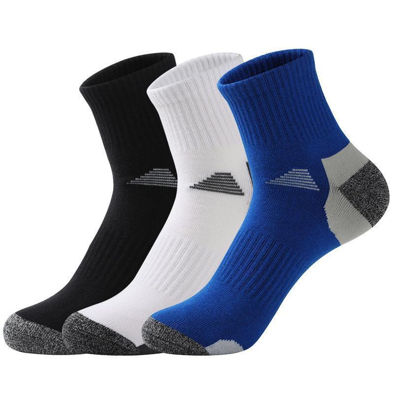 Chaussettes de tube pour hommes Automne et hiver Sweat-Sweat-absorbant et déodorant chaussettes de coton absorbant la compression sportive de basket-ball extérieur