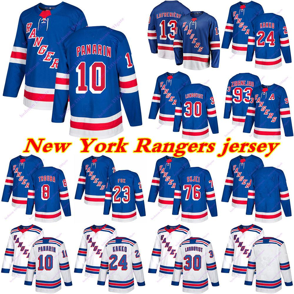 Mens Kids New York Rangers Jerseys 10 Artemi Panarin 24 Kaapo Kakko 13 Alexis Lafeniere 93 Mika Zibanejad Hockey Jersey