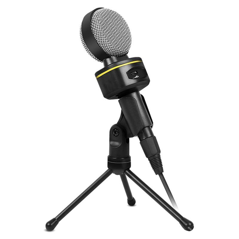 3.5mm Plug Microphone pour cours de Radio Online Cours de rencontre Costume de discussion pour ordinateur PC High Sensibilité Clear Enregistrement