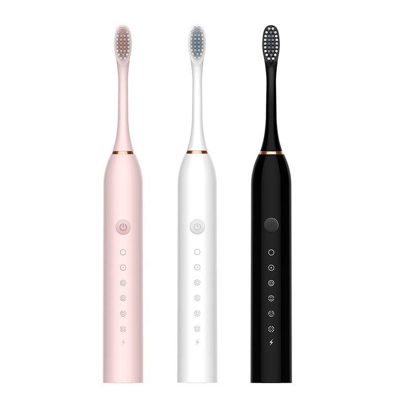 Новая USB аккумуляторная электрическая зубная щетка Sonic зубная щетка, подходит для женщин и девочек, с 4 мягкими щетками головками 201118
