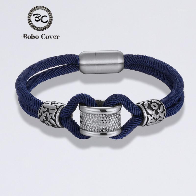 Классический стиль наземного стиля веревка бесконечности очарование браслеты женские мужчины мужчины из нержавеющей стали аксессуары браслет мода любительские украшения оптом1