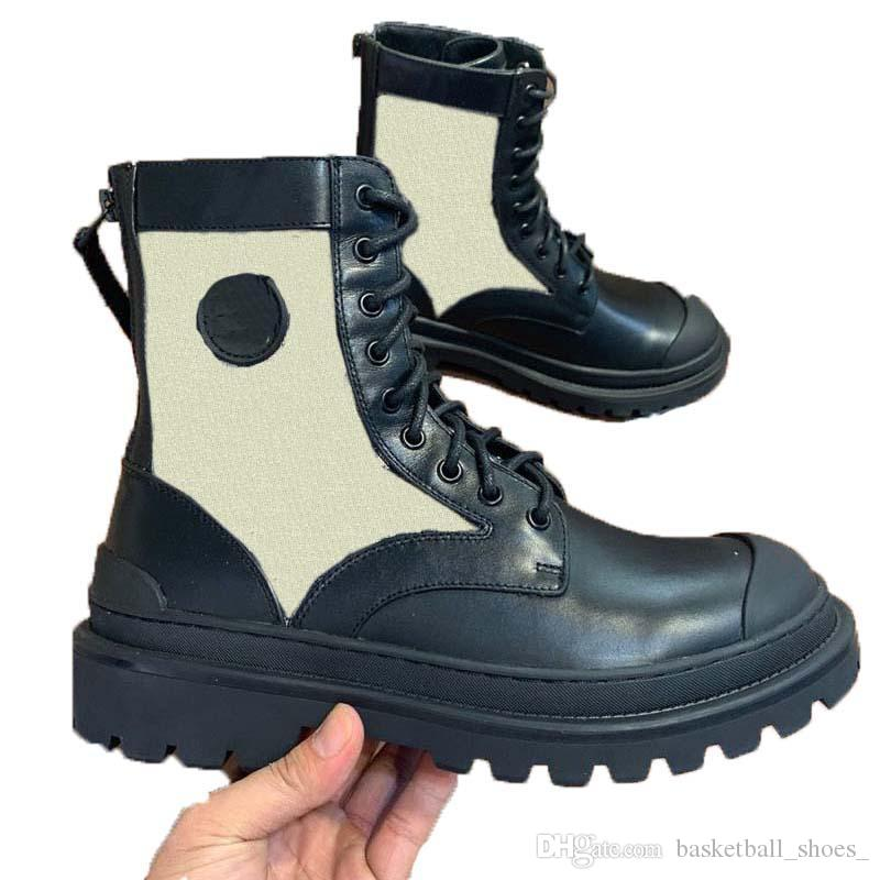 Homens e mulheres genuínas plataforma de couro botas top sapatos casuais pulso triplo preto preto sapatilhas tamanho 34-45