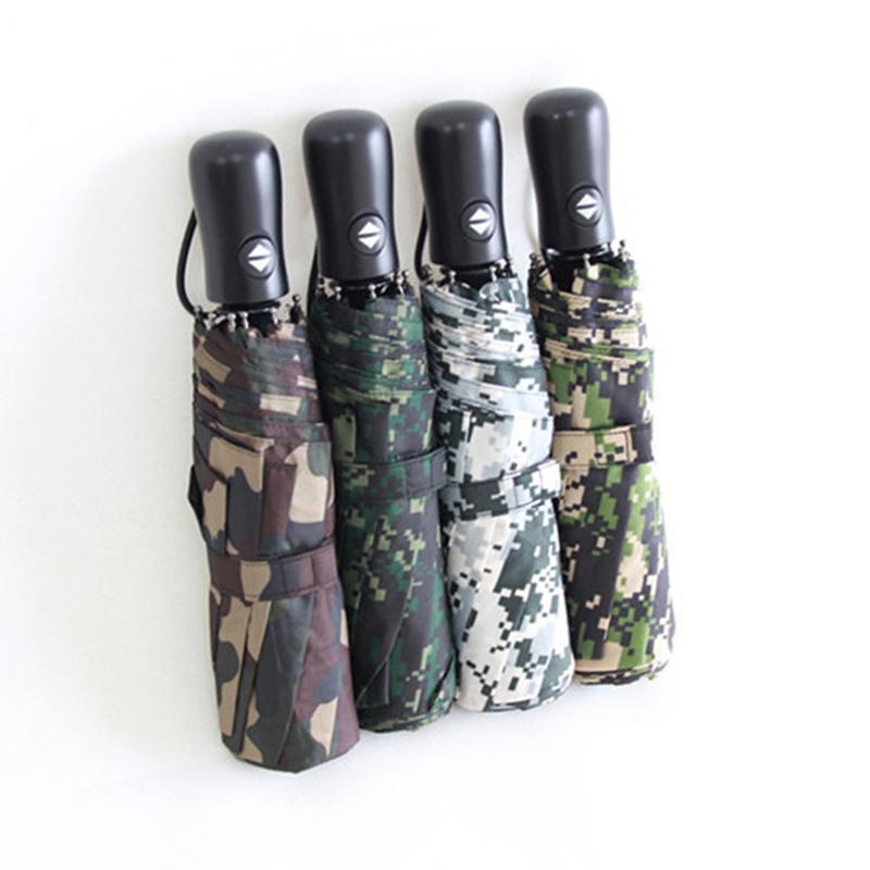 3 ألوان التمويه قابلة للطي مظلة المحمولة متعددة الوظائف التلقائي جودة عالية المظلة uv حماية هدية الإبداعية