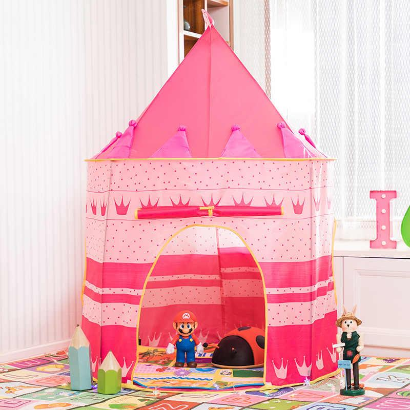 Kid Tent House Portable Princess Castle Present For Kids Children Play Toy Tent Birthday Christmas Gift