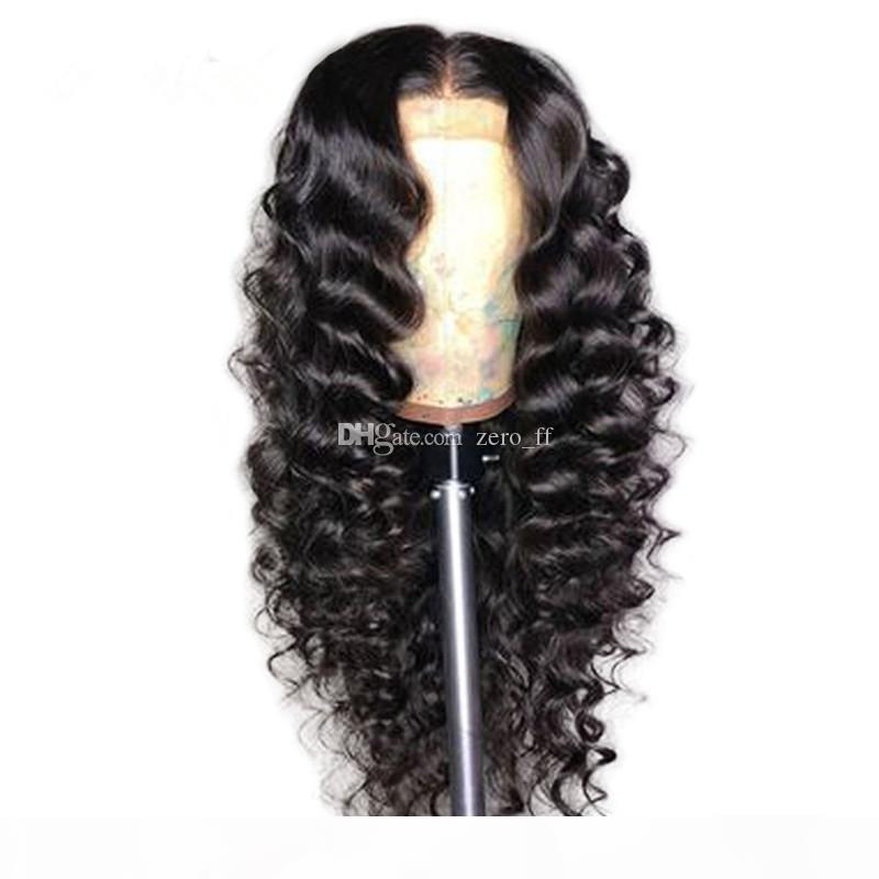 Полные кружевные фронтские парики с младенцем волосы бразильские свободные волны без глиной полные кружевные волосы для чернокожих женщин в наличии