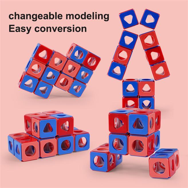 Kinder Erleuchtung Spielzeug Bausteine Dreidimensionale Rubik's Cube Puzzle DIY Baustein Rubik's Cube Stehender Lautstärkeblock